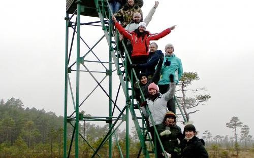 Üliõpilastega seikluskasvatuse väljasõidul Soomaal