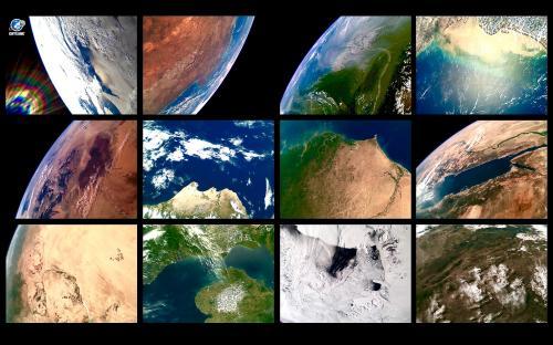 ESTCube-1 tehtud fotod kosmosest