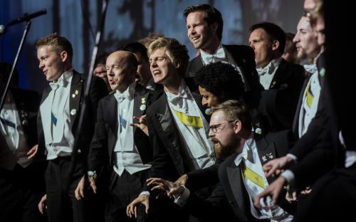 Rootsi ühe parima meeskoori, Linköpingi ülikooli meeskoori esinemine pakkus suuri emotsioone.
