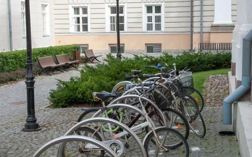 Kõigi ülikooli hoonete ümbrusesse on lisatud hulgaliselt ka uusi raamkinnitusega rattahoidikuid.